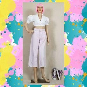 Zara frayed pink jeans